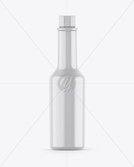 Glossy Sauce Bottle Mockup