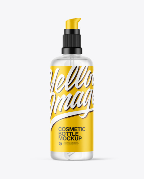 Download Clear Cosmetic Bottle PSD Mockup