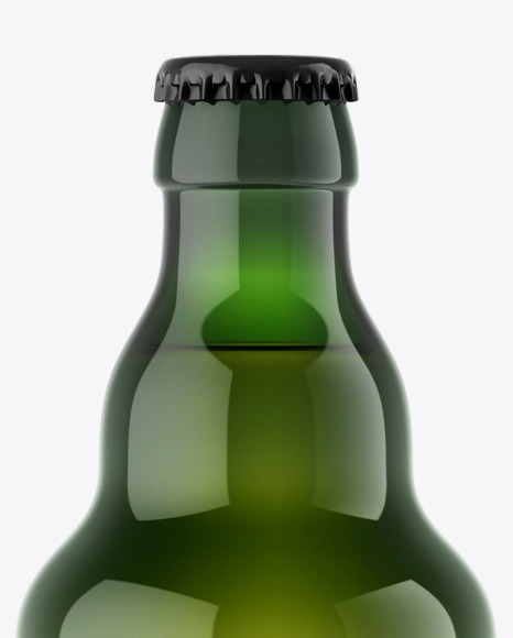 Green Beer Bottle Mockup
