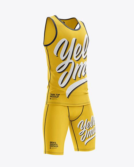 Men's Sprinting Kit mockup (Right Half Side View)