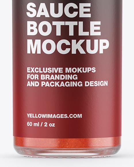 Red Hot Sauce Bottle Mockup