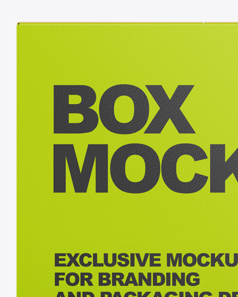 Paper Box Mockup In Box Mockups On Yellow Images Object Mockups