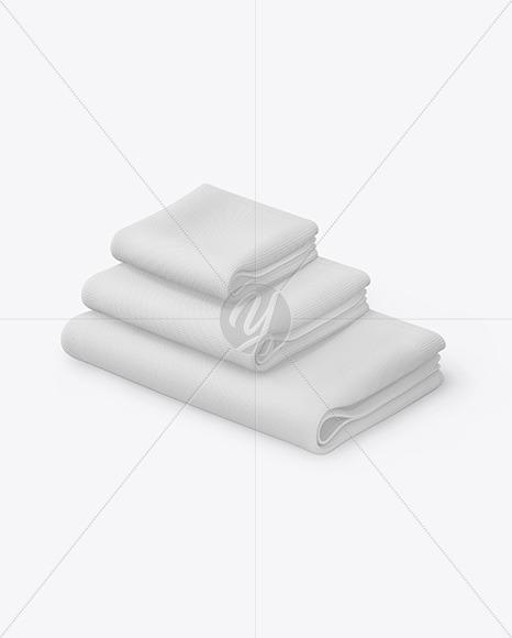 Download Three Waffle Towels Mockup Free Mockups