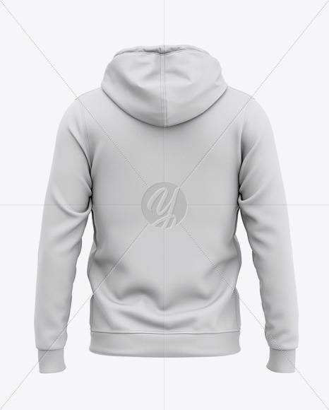 Full-Zip Hooded Sweatshirt - Back View Of Hoodie