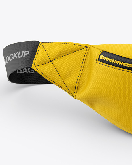 Bum Bag Mockup - Front View - Fanny Pack