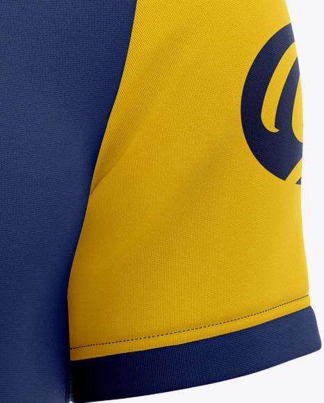 Men's Short Sleeve Soccer Jersey Mockup - Front View