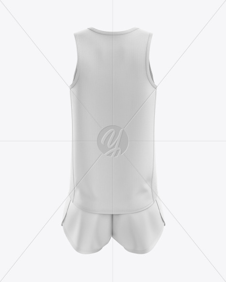 Men's Running Kit mockup (Back View)