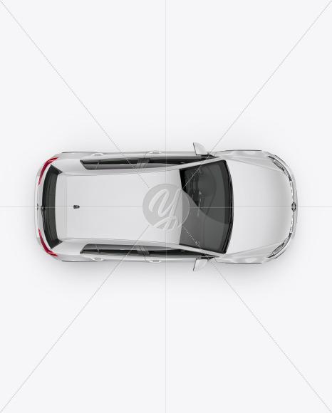 Hatchback 5-doors Mockup - Top View - Yellowimages Mockups