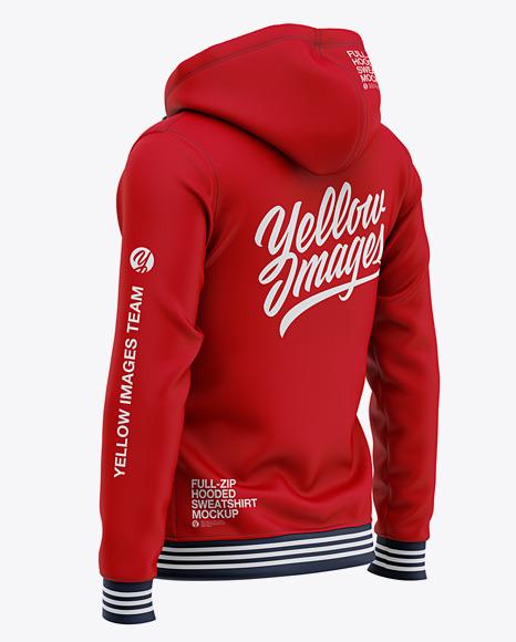 Full-Zip Hooded Sweatshirt - Back Half Side View