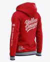 Full-Zip Hooded Sweatshirt - Back Half Side View Of Hoodie