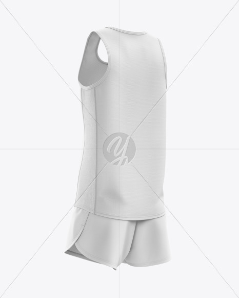 Men's Running Kit mockup (Back Half Side View)