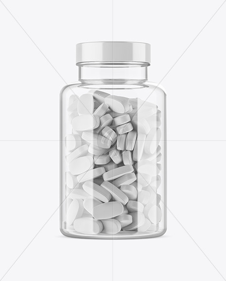 Download Clear Glass Pills Bottle Mockup In Bottle Mockups On Yellow Images Object Mockups PSD Mockup Templates