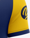 Men's Short Sleeve Soccer Jersey Mockup - Back View