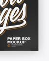 Paper Box Mockup - Top View