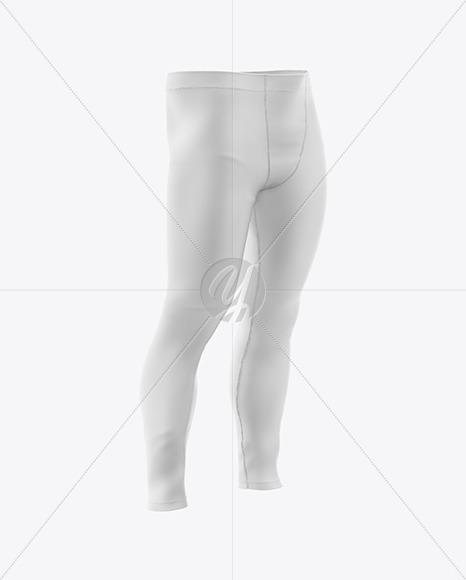 Men's Pants Mockup - Front Half Side View
