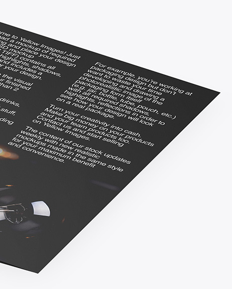 Brochure Mockup - Back Side View
