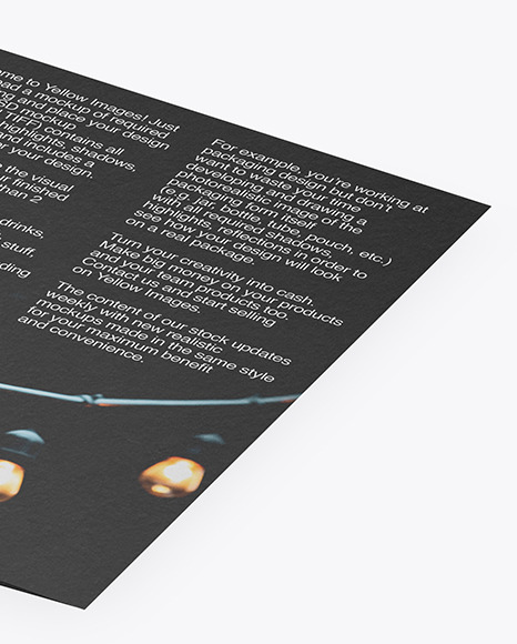 Textured Brochure - Back Side Mockup