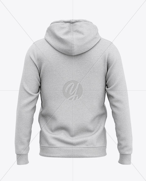 Full-Zip Heather Hooded Sweatshirt - Back View Of Hoodie