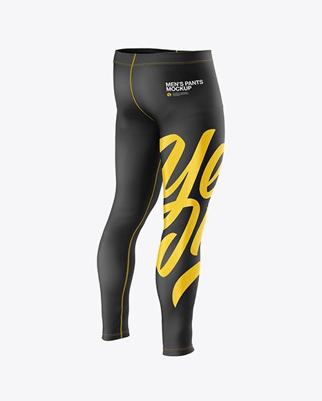 Men's Pants Mockup - Back Half Side View