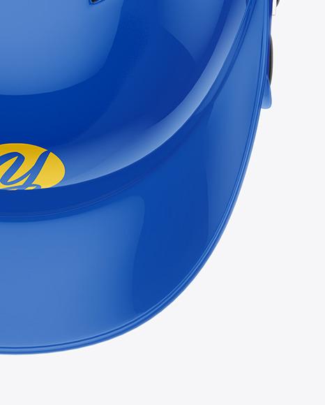 Glossy Baseball Helmet Mockup