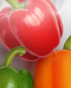 Plastic Bag With Colored Sweet Peppers Mockup