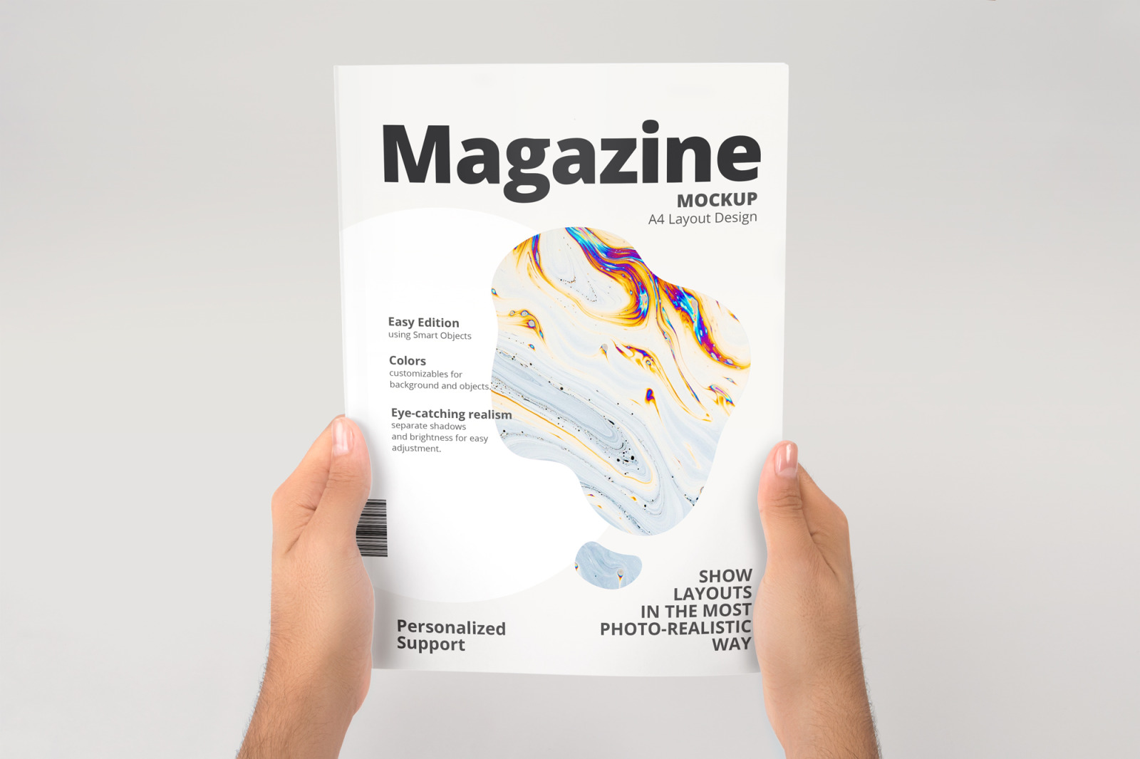 A4 Magazine Mockup In Stationery Mockups On Yellow Images Creative Store
