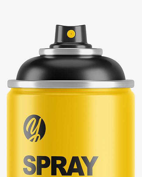 Opened Matte Spray Bottle With Plastic Cap Mockup