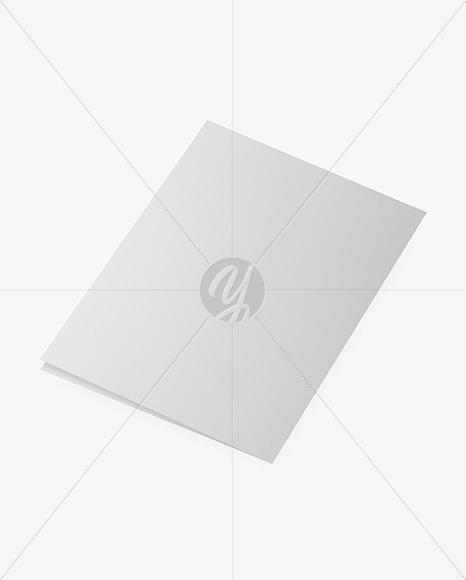 Textured Brochure Mockup - Back Side View