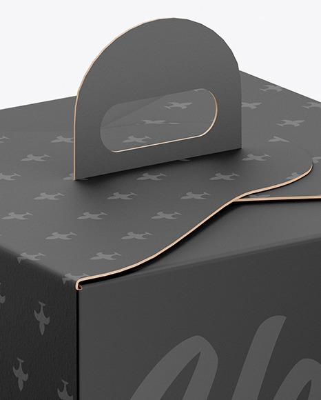 Cake Paper Box Mockup