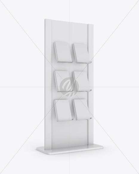 Glossy Stand with Magazines Mockup