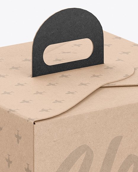 Cake Kraft Box Mockup
