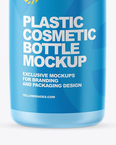 Matte Plastic Cosmetic Bottle Mockup
