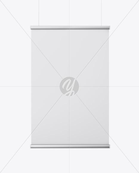 Metallic Frame Banner Mockup