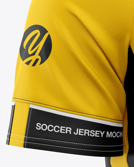 Men's Soccer Jersey Mockup - Front Half-Side View