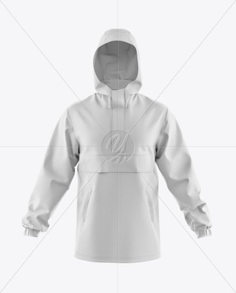 Men's Hooded Windbreaker Jacket Mockup