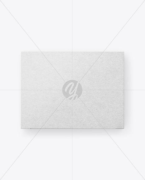 Kraft Paper Box Mockup - Top View