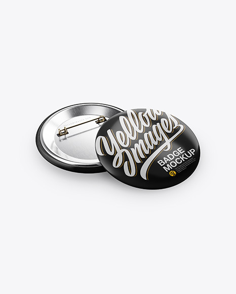 Two Button Pins Mockup