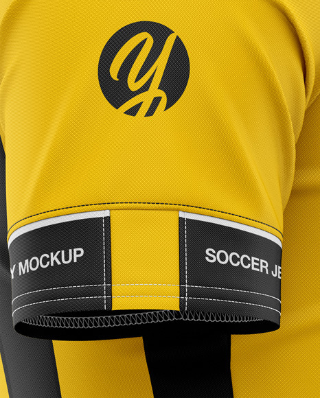 Men's Soccer Jersey Mockup - Side View - Football Jersey Soccer T-shirt