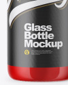 Clear Glass Bottle With Tomato Juice Mockup