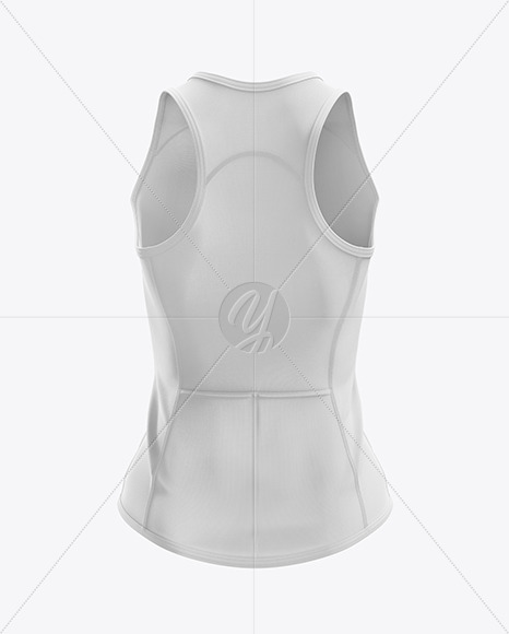 Women's Triathlon Top mockup (Back View)