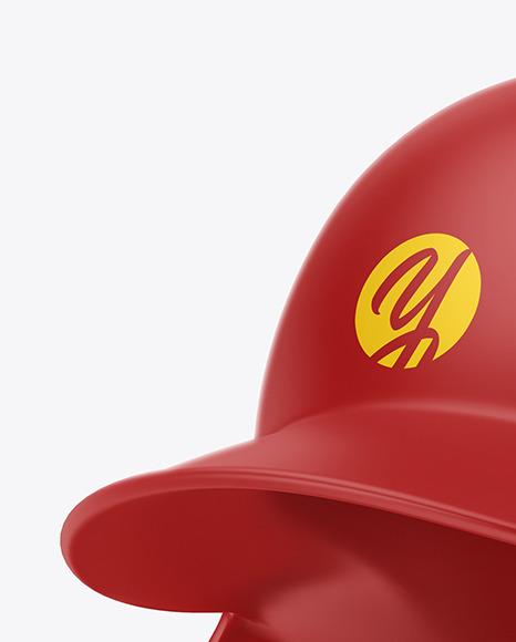 Matte Baseball Helmet Mockup