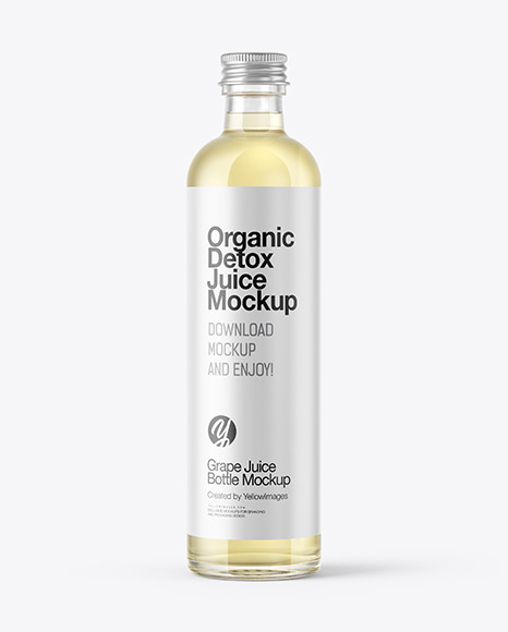 Grape Juice Bottle Mockup