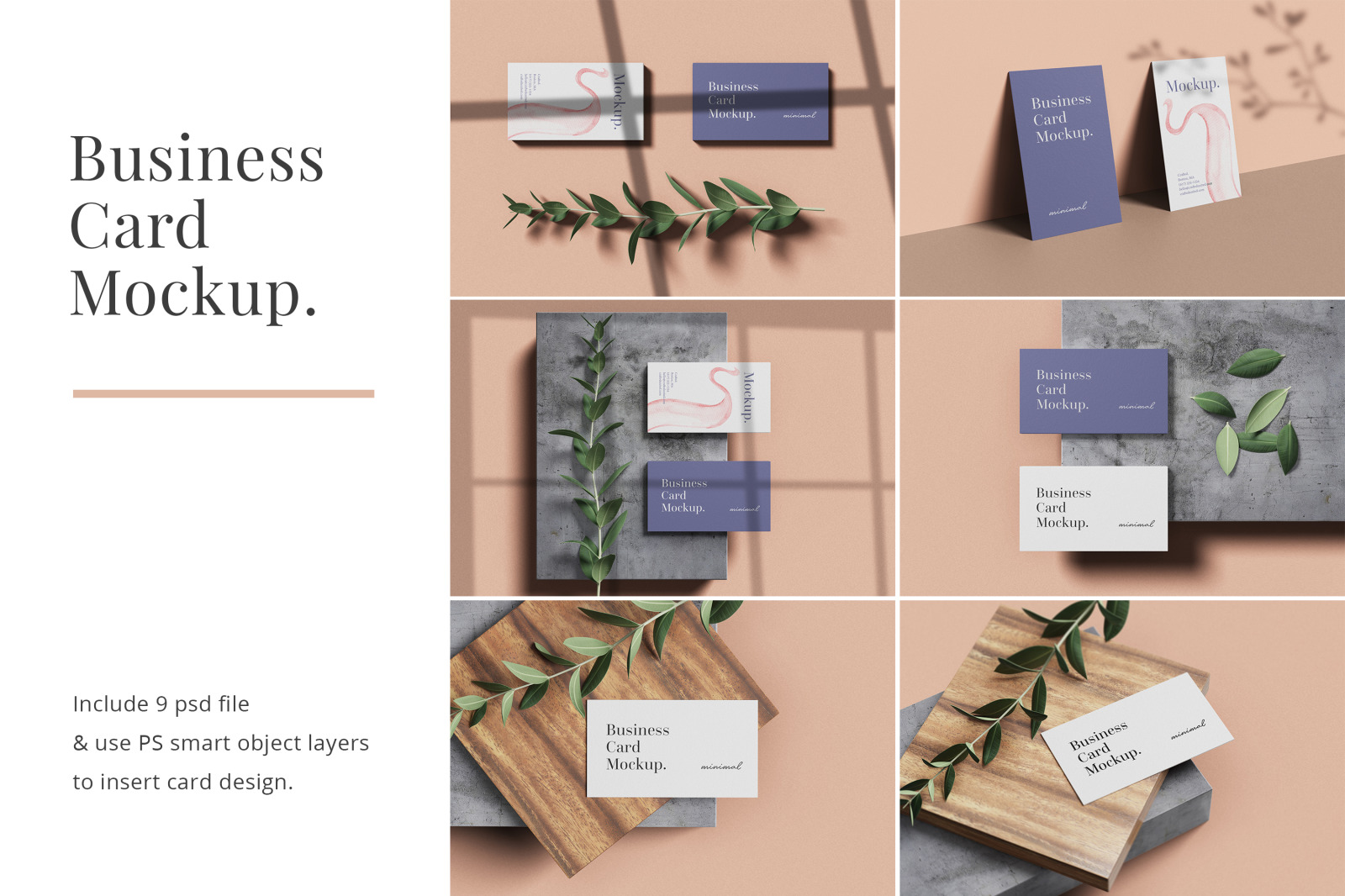 Minimal Business Card Mockups In Stationery Mockups On Yellow
