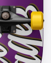 Matte Skateboard Mockup - Back View