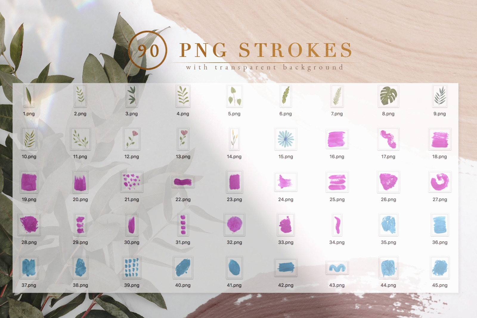 90 Procreate&PS Stamp Brushes