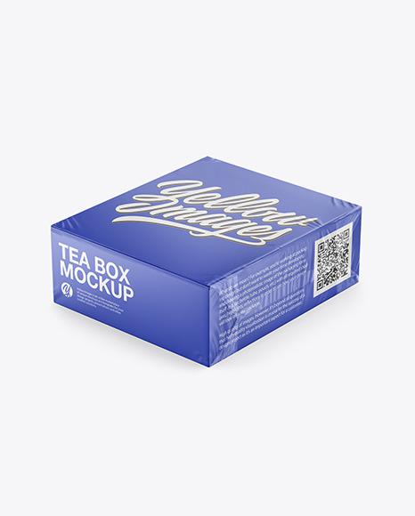 Tea Paper Box Mockup