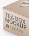Tea Kraft Box Mockup