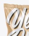 Kraft Paper Snack Package Mockup