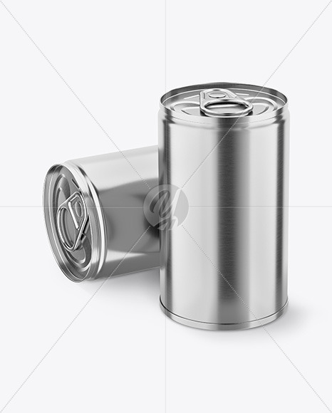Two Tin Cans w/ Pull Tab Mockup