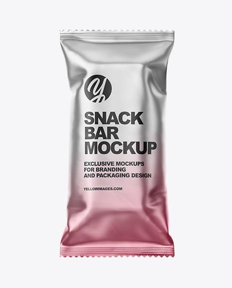 Matte Metallic Snack Bar Mockup